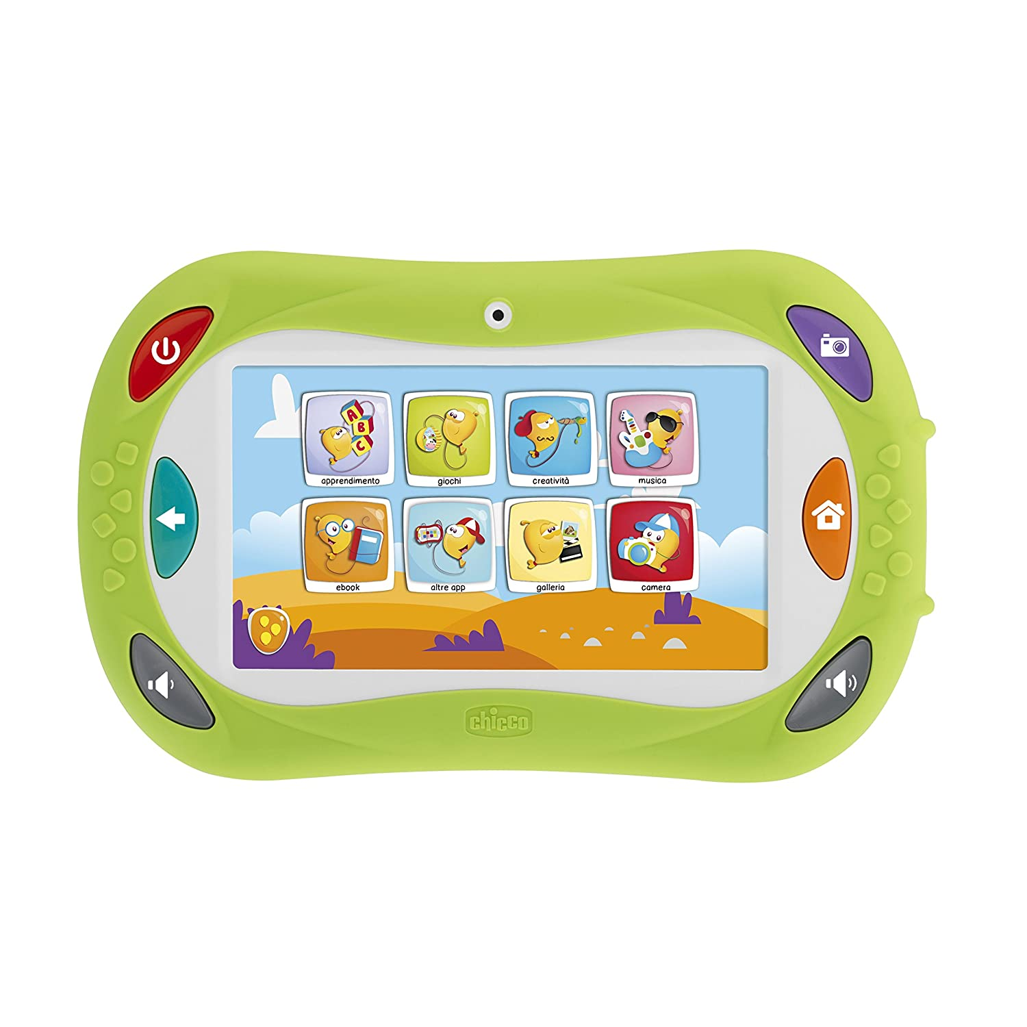 Pubblicità di Cartoonito: Chicco Happy Tab (con il microfono incluso) per 89,90€ (invece di 139,90€) [amazon.it]
