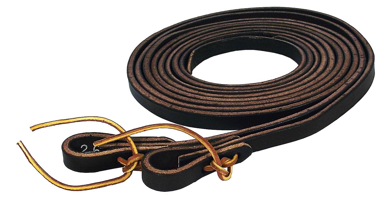 Black Hamilton Extra Heavy Leather Split Reins, 1 2-Inch by 7-Feet, Black