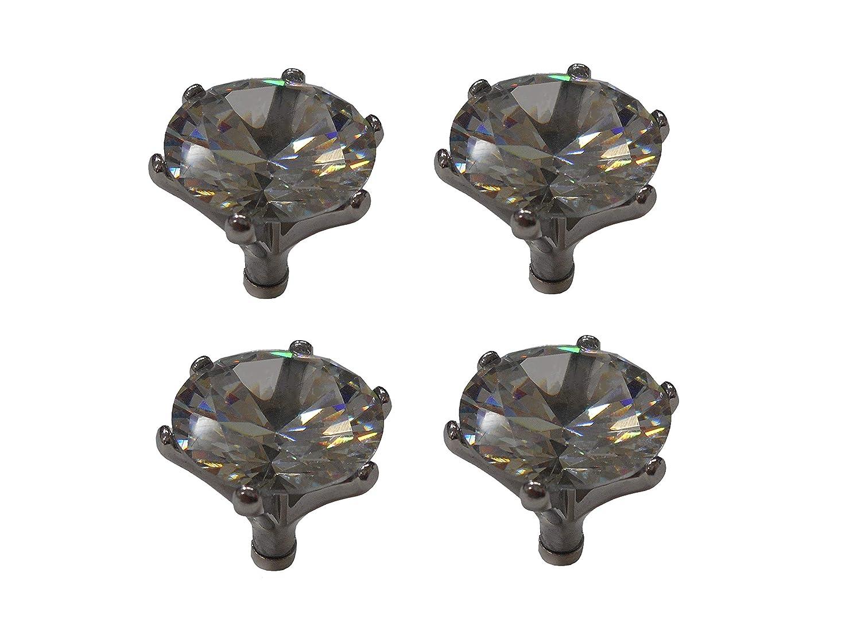 Shareki オリジナル 立て爪 キュービックジルコニア ダイヤモンド 20.0mm マグネットクリップ 磁気クリップ 冷蔵庫マグネット (4個セット) 4個セット  B07PBLK7QB