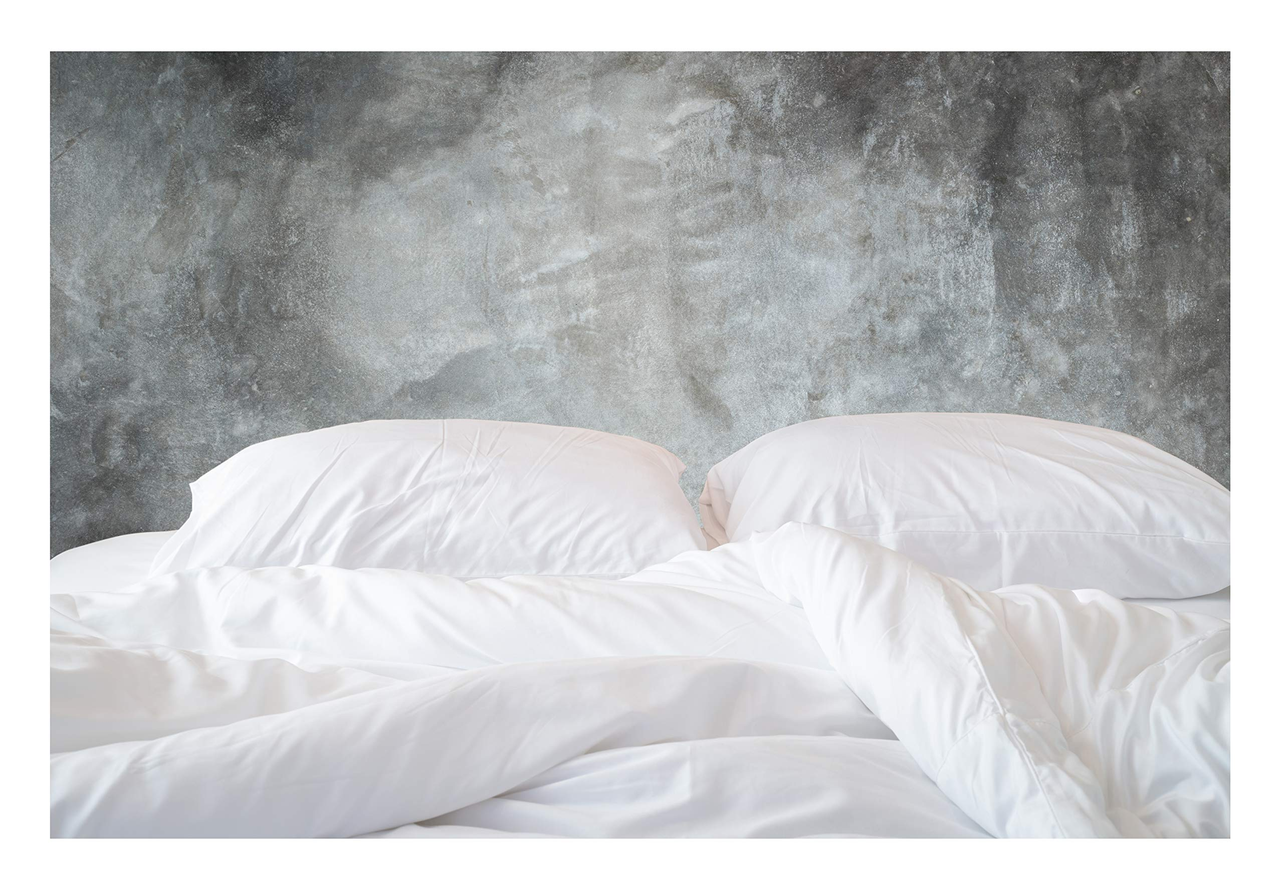 500-Thread-Count Organic Cotton Duvet Cover - 500TC King & California King Size Ultra White Color - For Bedding - 100% GOTS Certified Extra Long Staple, Soft Sateen Weave Finish - Luxury Collection