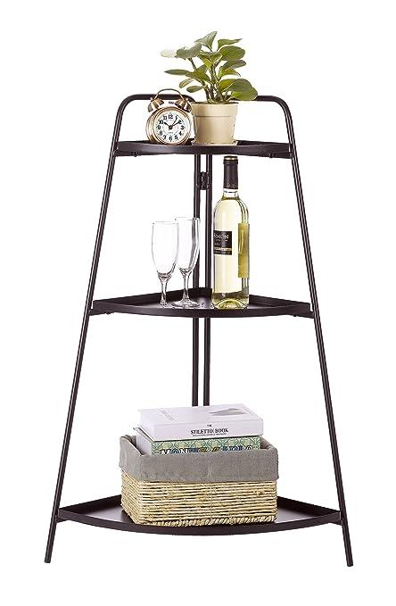 Finnhomy 3 Tier Multi Purpose Corner Plant Pot Display Stair Stand Shelf  Holder Outdoor Indoor