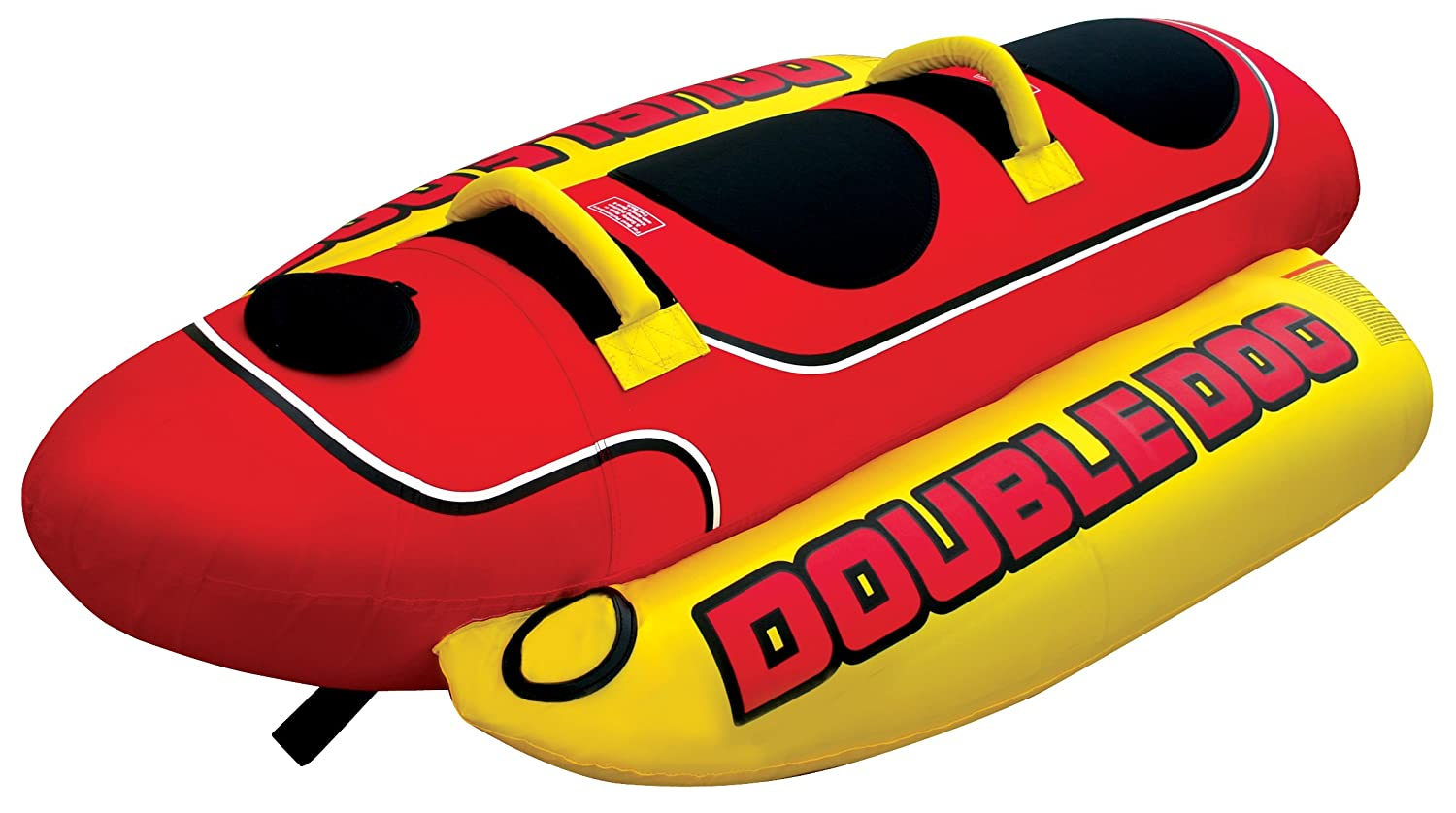 Kwik Tek Hd 2 Double Hot Dog Waterskiing Towables Inflatable Towing Harness Sports Outdoors