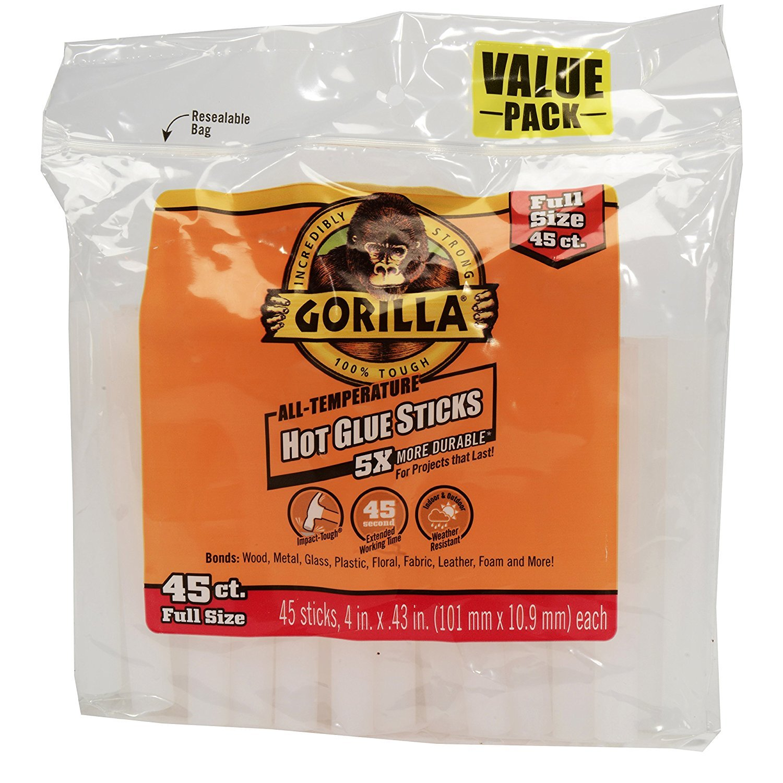 Gorilla 3034502 Hot Glue Sticks 4 In. Full Size, nBGGcK 225 Count by Gorilla A