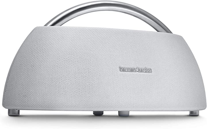 Harman Kardon Go Play Tragbarer Bluetooth Lautsprecher Mit Dual Mikrofon Konferenzsystem Weiß Audio Hifi