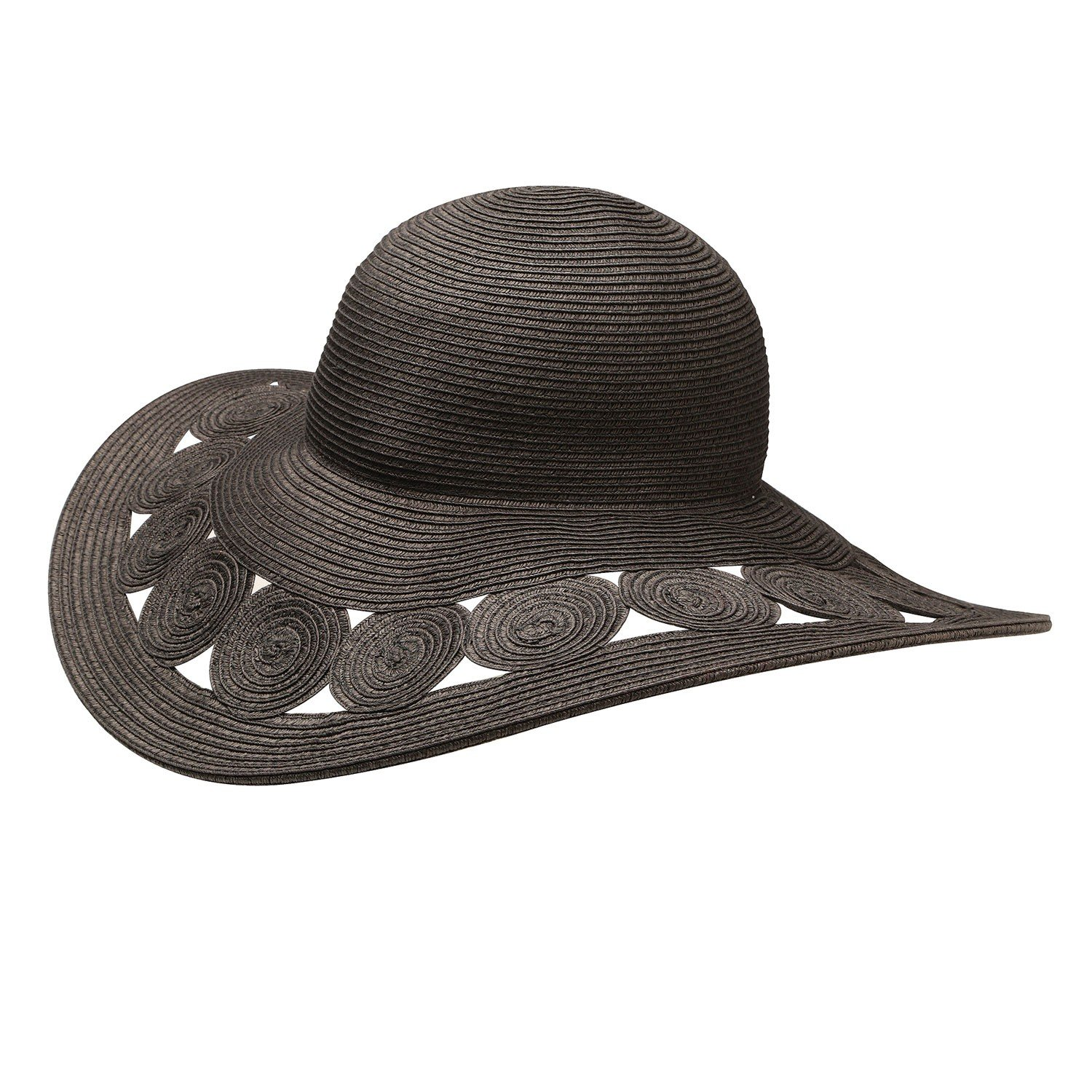Jeanne Simmons Accessories Woman s Hat -Black Deep Brim Paper Braid Sun Hat  at Amazon Women s Clothing store  eebf64702b1