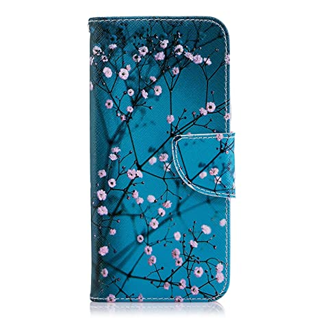 Vagenno For Samsung Galaxy A6 Plus 2018 Flip Case Shockproof Premium PU Leather Flip Case Notebook Wallet Cover Embossed Owl with Stand Card Holder Soft TPU Bumper Protective Skin Case,Gray