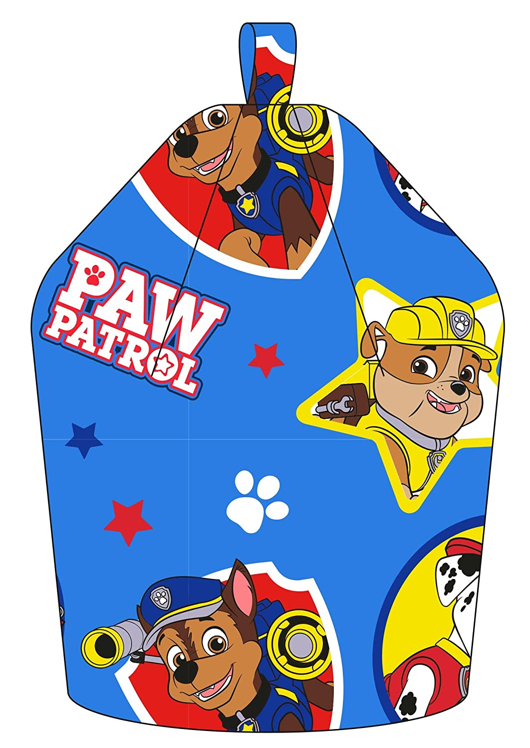Fabric Blue 52 x 38 x 52 cm Paw Patrol Forever Chase//Marshall and Rubble Bean Bag
