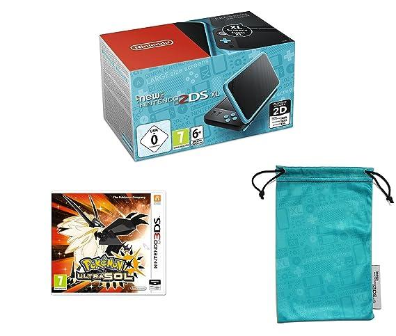 Nintendo New 2DS XL - Consola Portátil, Color Negro y Turquesa + ...