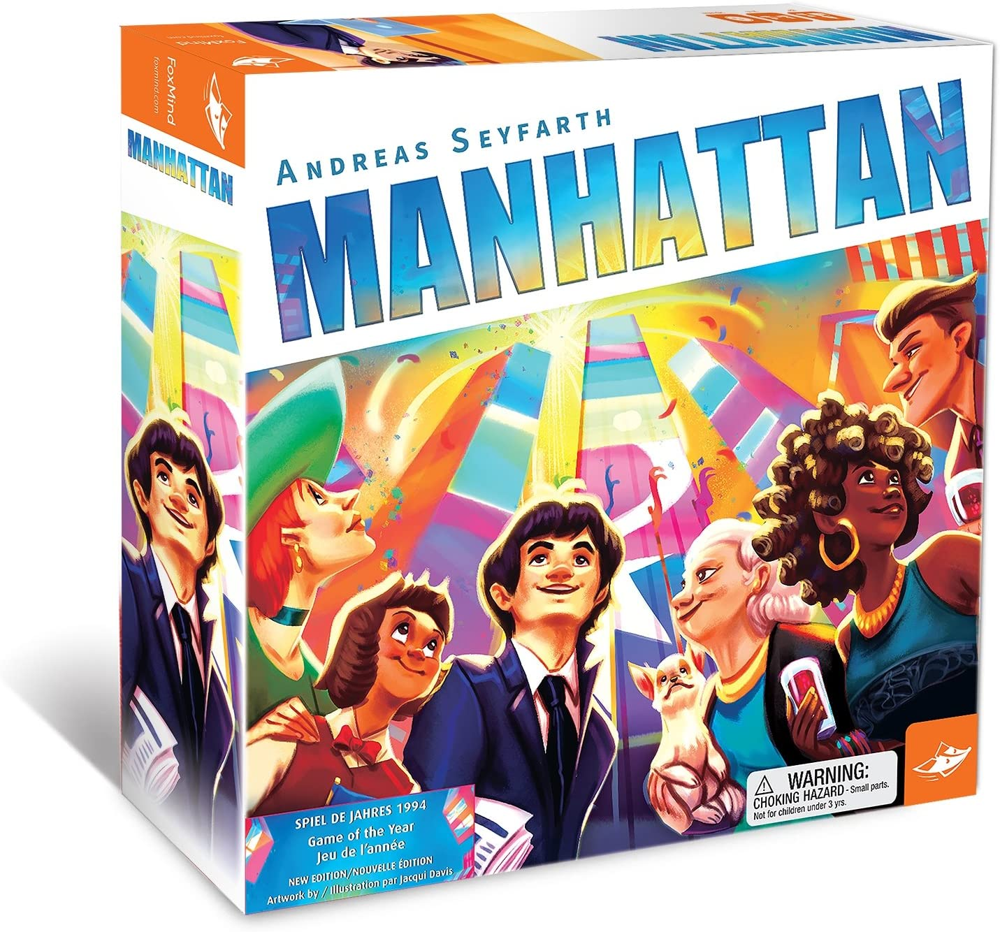 Amazon Com Foxmind Manhattan New Version Family Strategy Board Game Toys Games