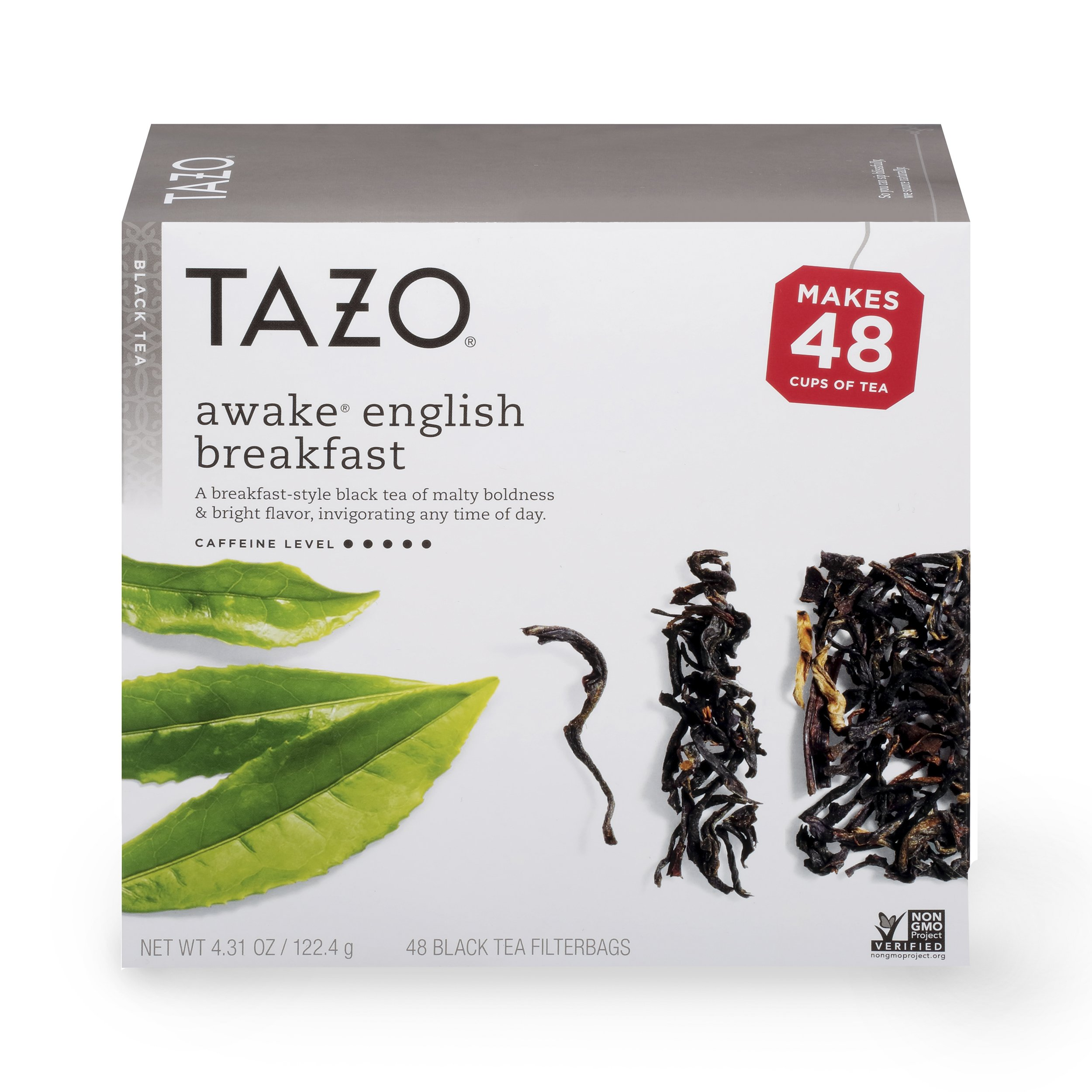 Tazo Awake English Breakfast Black Tea Filterbags 48 ct, Pack of 4