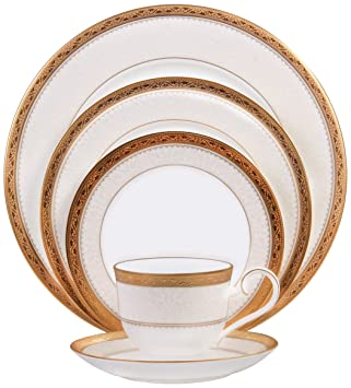 Amazon.com | Noritake Odessa Gold 5-Piece Place Setting: Dinnerware ...