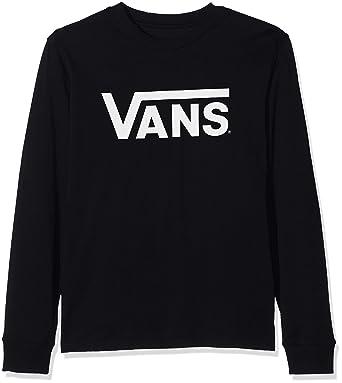 6be67e734 Vans_Apparel Boy's Classic Ls Boys T - Shirt, White (Black White), X