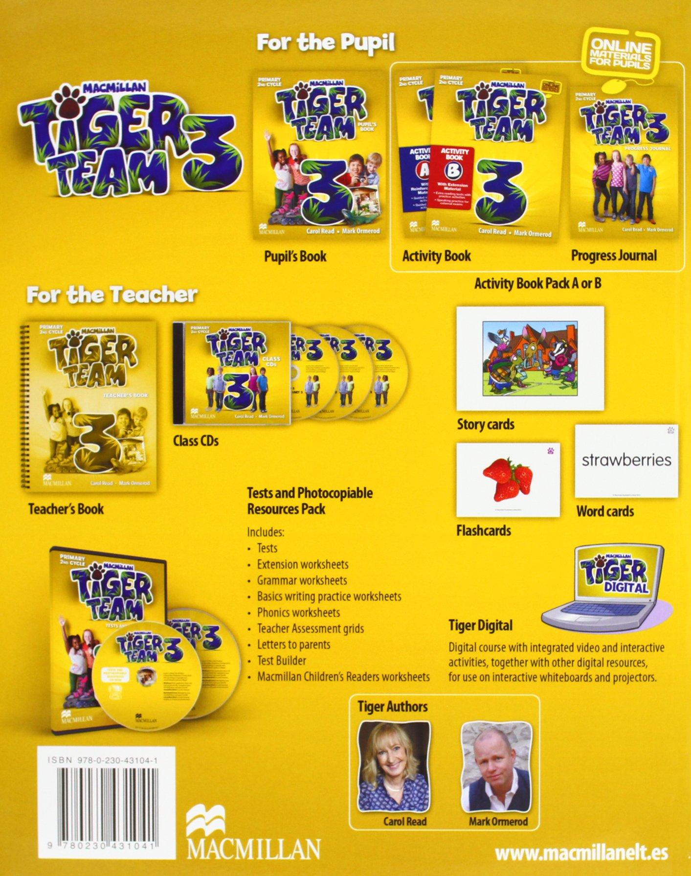 TIGER 3 Ab A Pk - 9780230431041: Amazon.es: Read, Carol, Ormerod, Mark.: Libros en idiomas extranjeros