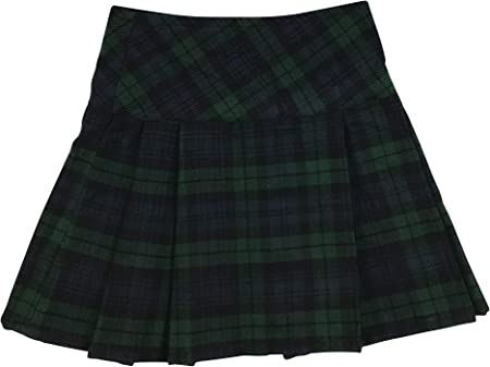 Falda escocesa de cuadros escoceses de 16,5 cm para mujer