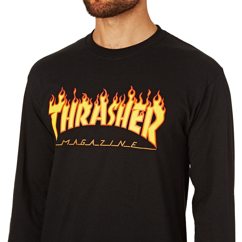 c2e5a193 Amazon.com: Thrasher Flame Long Sleeve T-Shirt: Clothing