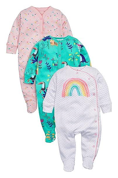next Bebé Niña Pack De Tres Pijamas Arcoíris (0 Meses - 2 Años) Corte