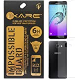 iKare Front/Back Fiber Tempered Glass Screen Protector for Samsung Galaxy A5 2016 Edition (REUSABLE, ULTRA CLEAR, REAL SHOCK PROOF, UNBREAKABLE)