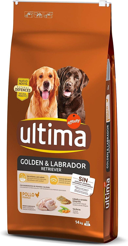 Ultima Pienso para Perros Golden y Labrador Retriever con Pollo - 14 kg