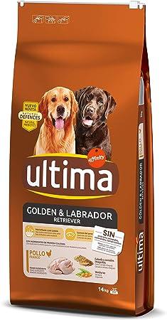 Oferta amazon: Ultima Pienso para Perros Golden y Labrador Retriever con Pollo - 14 kg