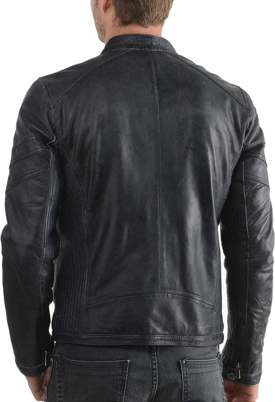 Kingdom Leather New Men Motorcycle Lambskin Leather Jacket Coat Size XS S M L XL X060