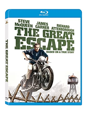 amazon com the great escape blu ray steve mcqueen charles