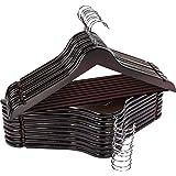 Utopia Home Premium Wooden Hangers - Pack of 20 - 360-Degree Rotatable Hook - Durable & Slim - Shoulder Grooves - Non-Slip Li