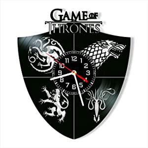 Game of Thrones Vinyl Clock, Wall Clock 12 inch (30 cm), Original Gifts for Fans Game of Thrones, The Best Home Decorations, Unique Art Decor, Original Idea for Home Decor