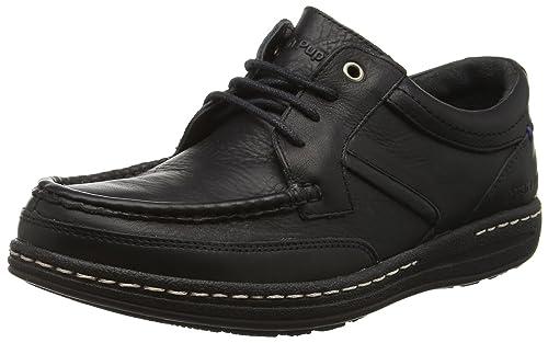Hush Puppies Mens Leather Vines Victory Derbys Lace Up Shoes Black