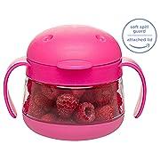 Ubbi Tweat Snack Container - Hot Pink - 9 Oz