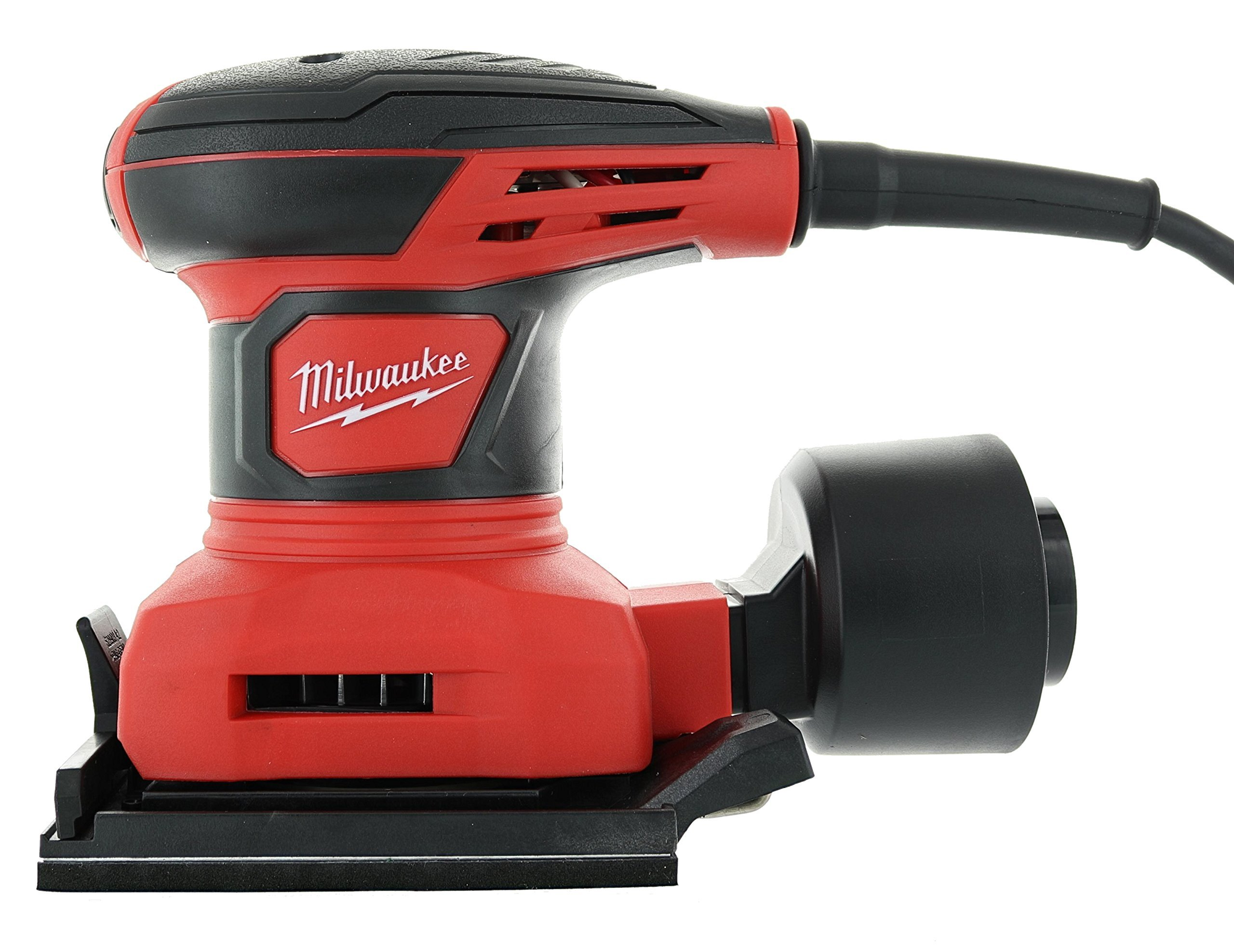 Milwaukee 6033-21 3 Amp 1/4 Sheet Orbital 14,000 OBM Compact Palm Sander with Dust Canister (2 Sheets of Sandpaper Included) by Milwaukee (Image #3)
