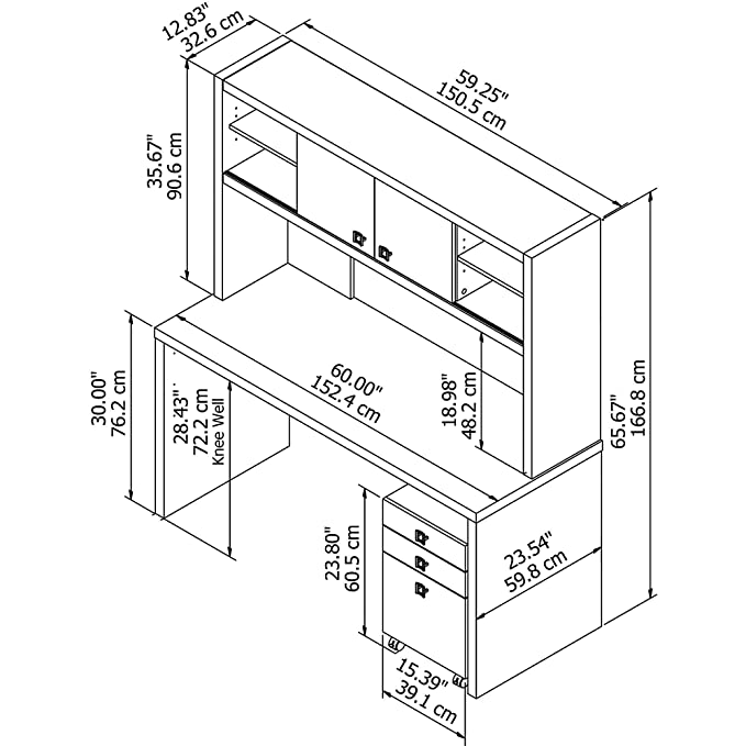 Amazon Com Bush Business Furniture Ech006gssu Echo 14 Gauge 2