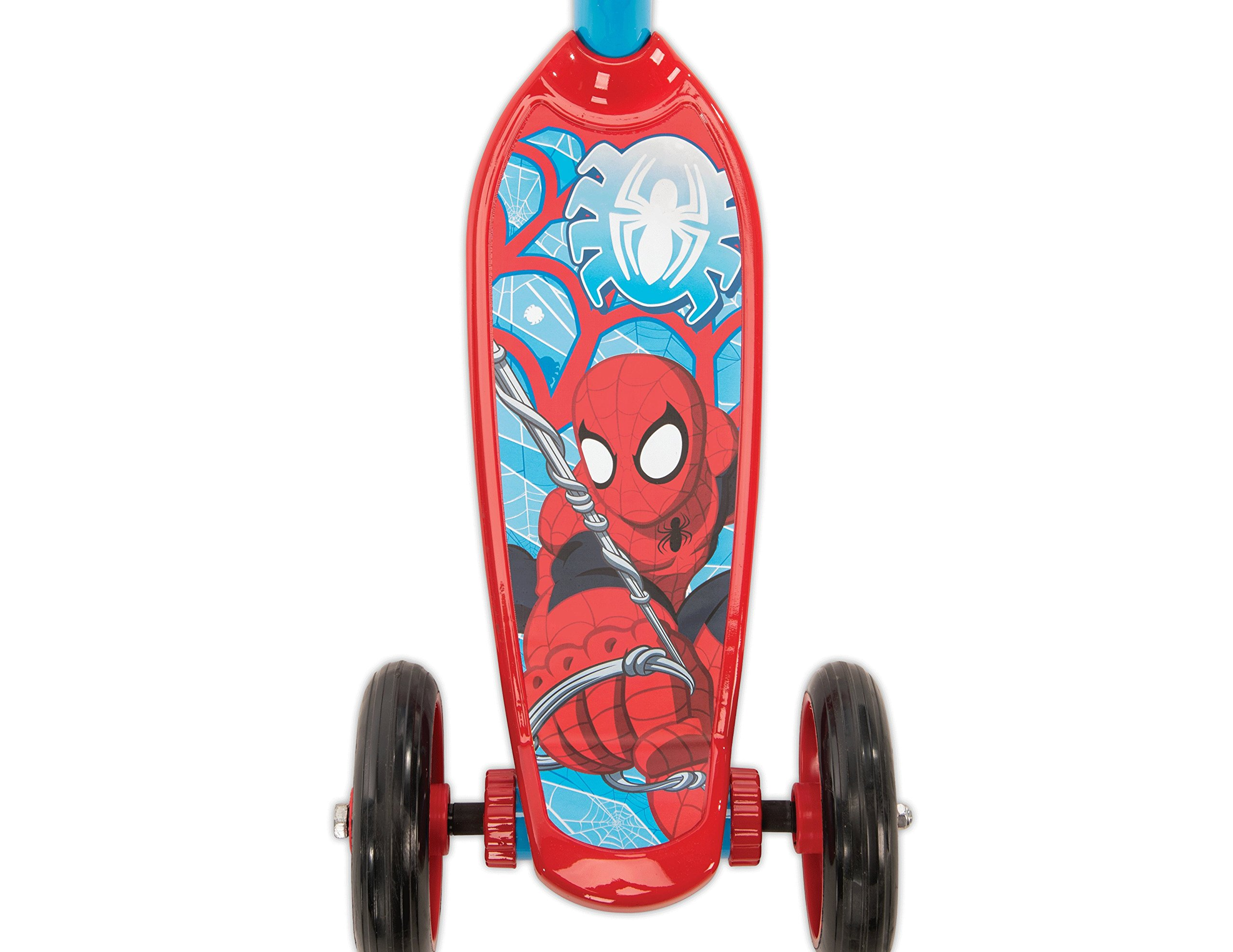 Huffy Bicycle Company Marvel Spider-Man Secret Storage 3 Wheel Scooter, Soft Blue, 37''