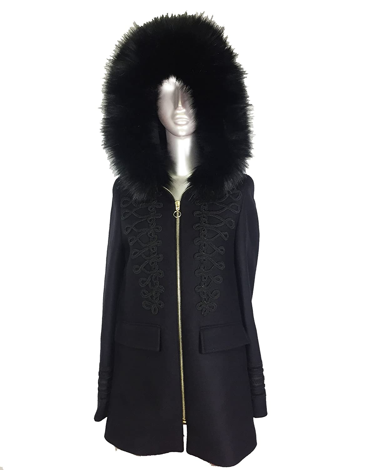 f9d04bc5 Zara Women's Duffle coat with faux fur hood 8383/744 (X-Large ...