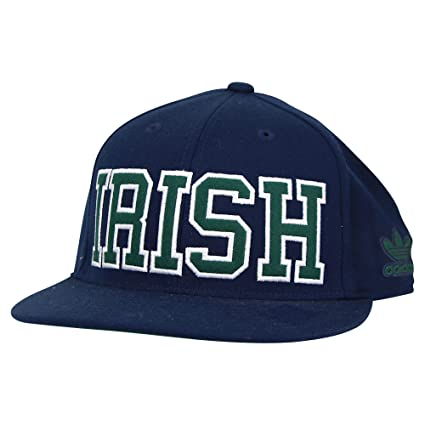 48bc4eae191 Image Unavailable. Image not available for. Color  Notre Dame Fighting  Irish Flat Visor Flex Adidas Hat ...