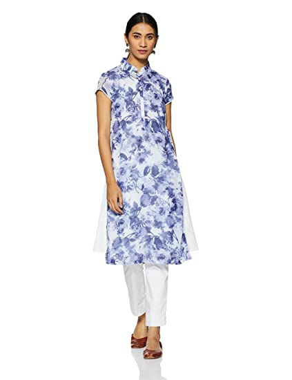 BIBA Women's A-Line Kurta Kurtas & Kurtis at amazon