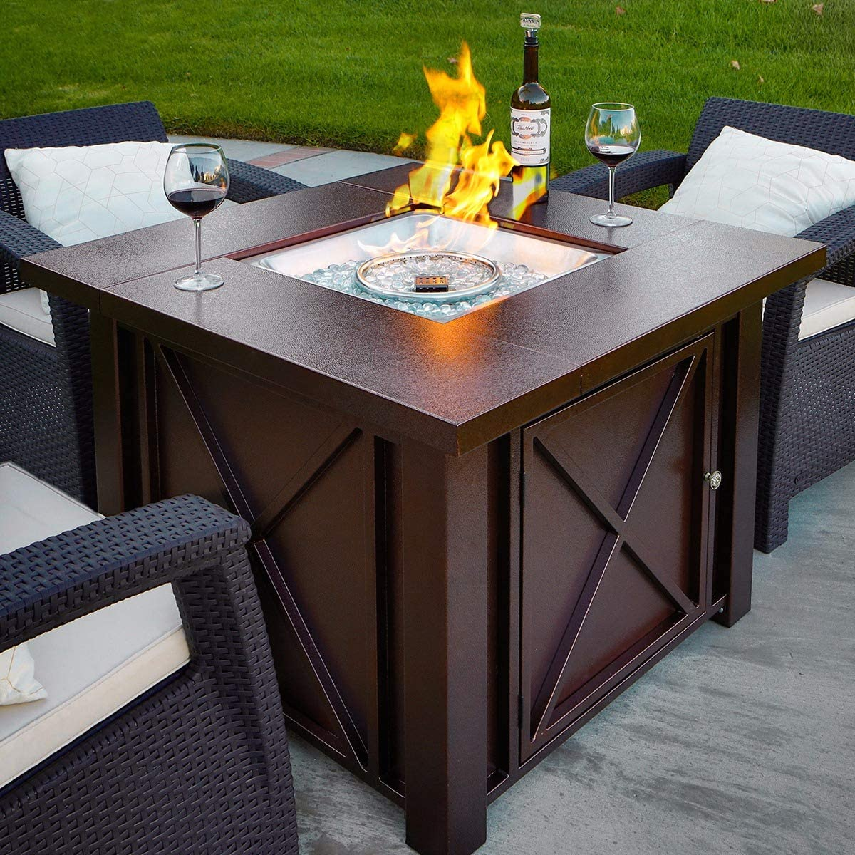 xtremepowerus new lpg fire pit table