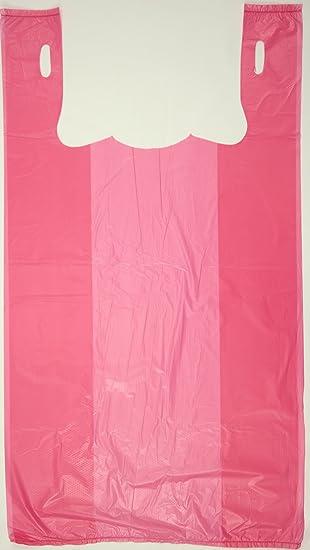 Bolsa de plástico para camiseta de color rosa con relieve de ...