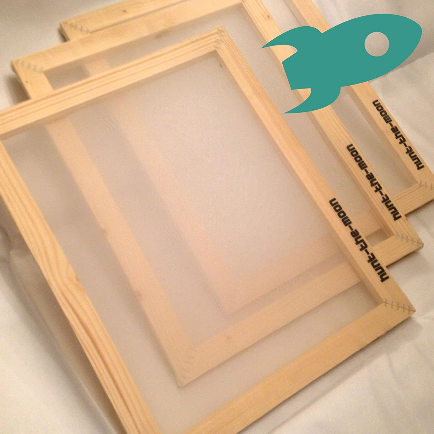 A3 Silk Screen 120T mesh Wooden Frame for Screen Printing Hunt-The-Moon