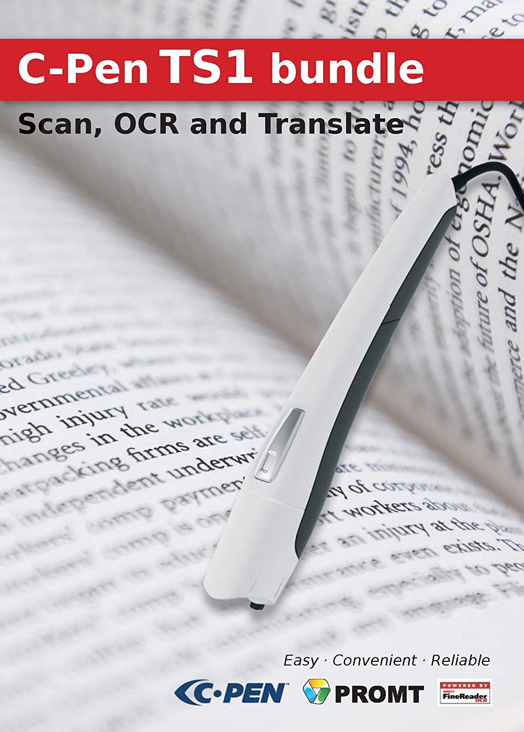 C-Pen TS1 bundle - Pen Scanner incl. OCR and Text Translation Software