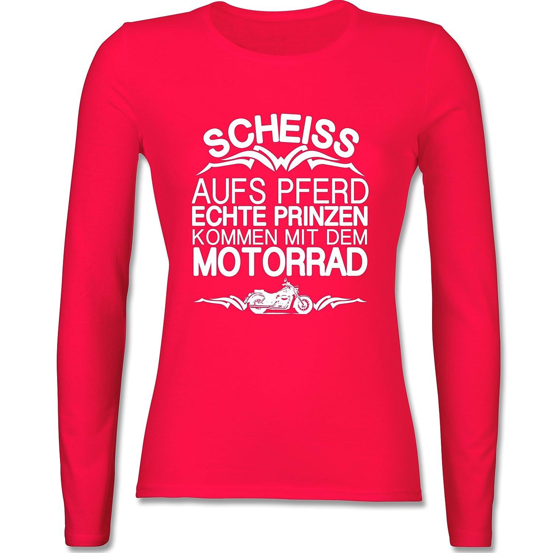 Shirtracer Motorräder - Scheiß Aufs Pferd Echte Prinzen Kommen mit dem  Motorrad - Damen Langarmshirt: Shirtracer: Amazon.de: Bekleidung