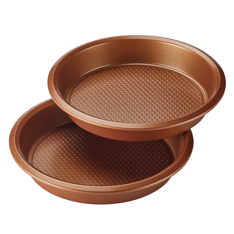 stahl rund Ayesha Curry Backformen-Set Stahl kupfer 2 St/ück kupferfarben
