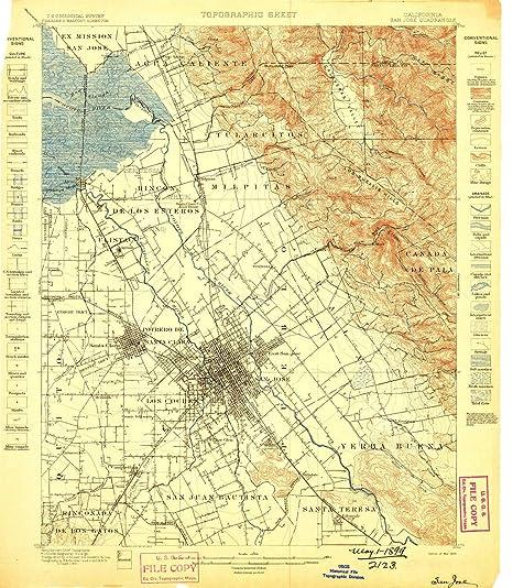 Amazon.com : YellowMaps San Jose CA topo map, 1:62500 Scale, 15 X 15 ...