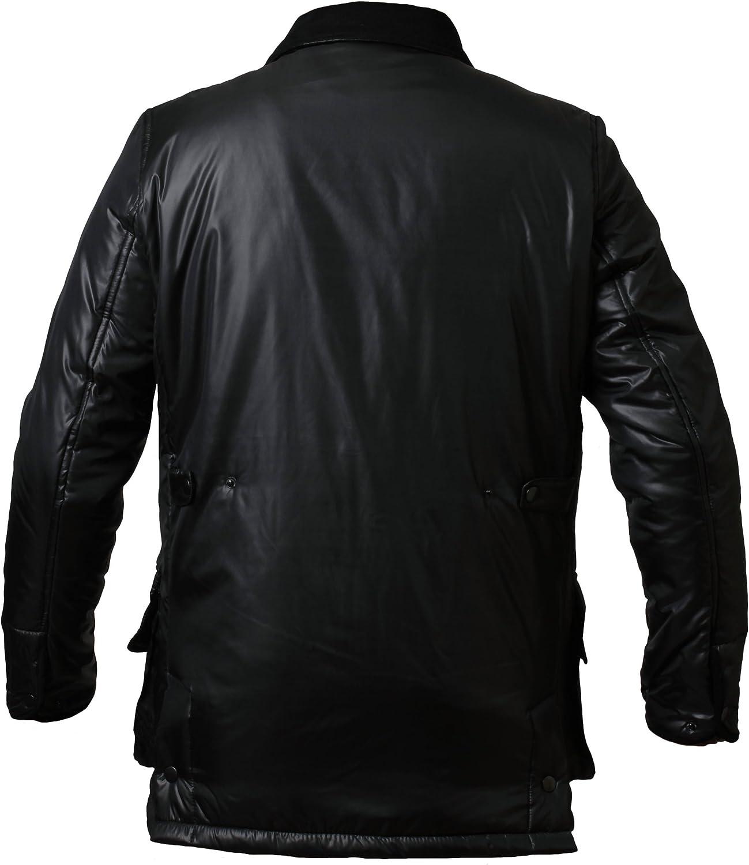 Mens Padded Jacket Hunter Style Coat Cord Details Hawk/&Shackleton 107322-PPWX