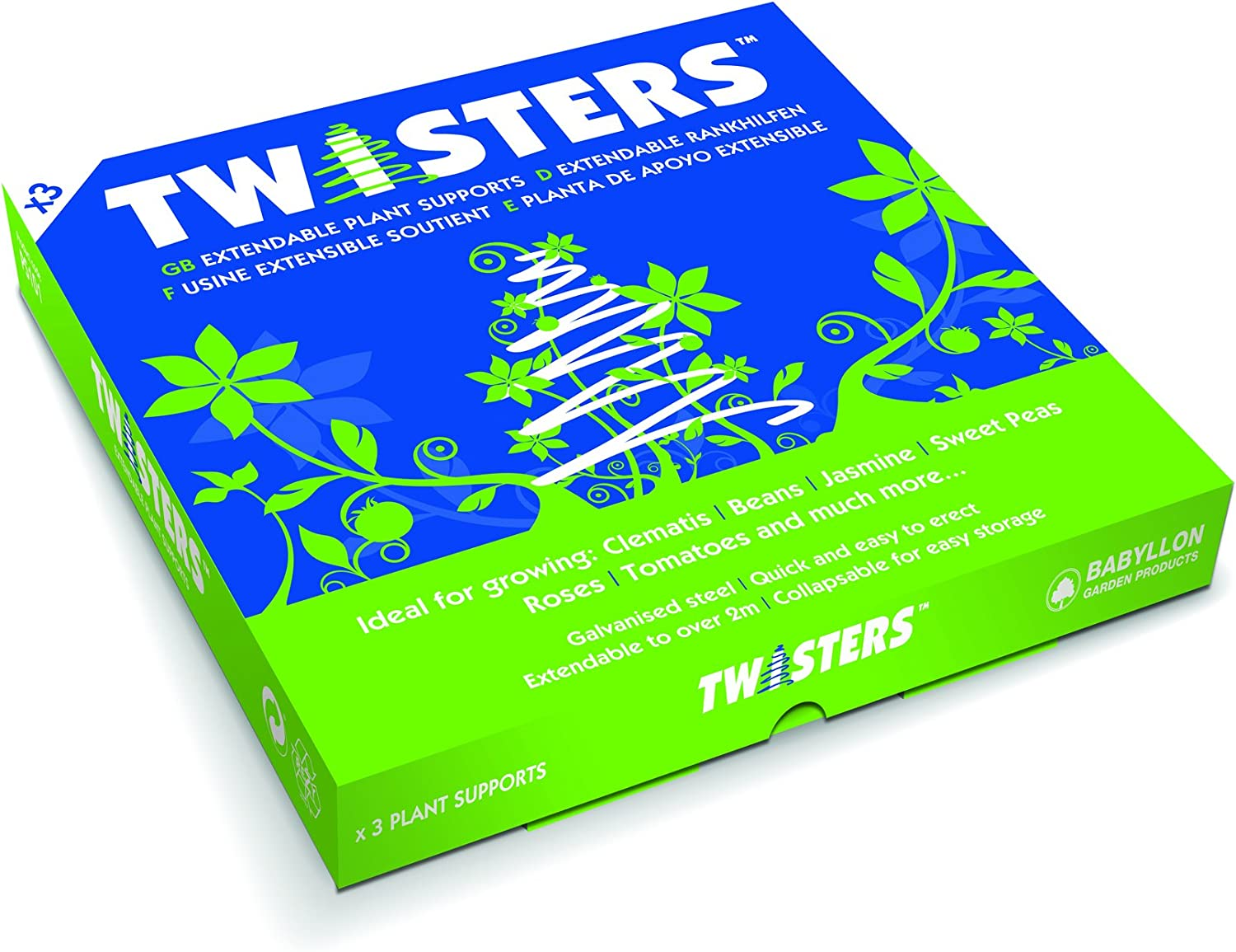 Twisters Spiral Extendable Plant Support Upto 7ft Galvanised Steel