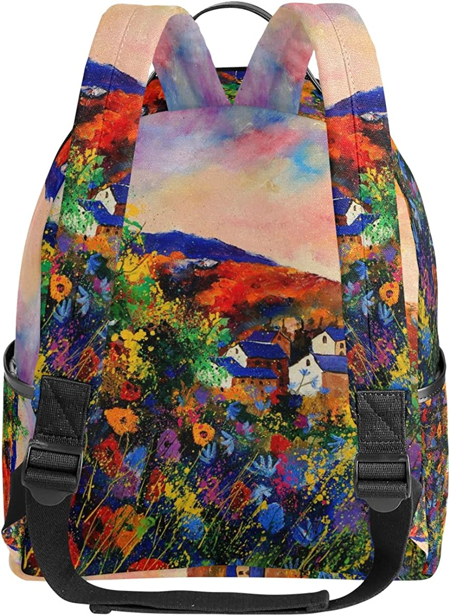 Mr.Weng Summer Printed Canvas Backpack For Girl and Children