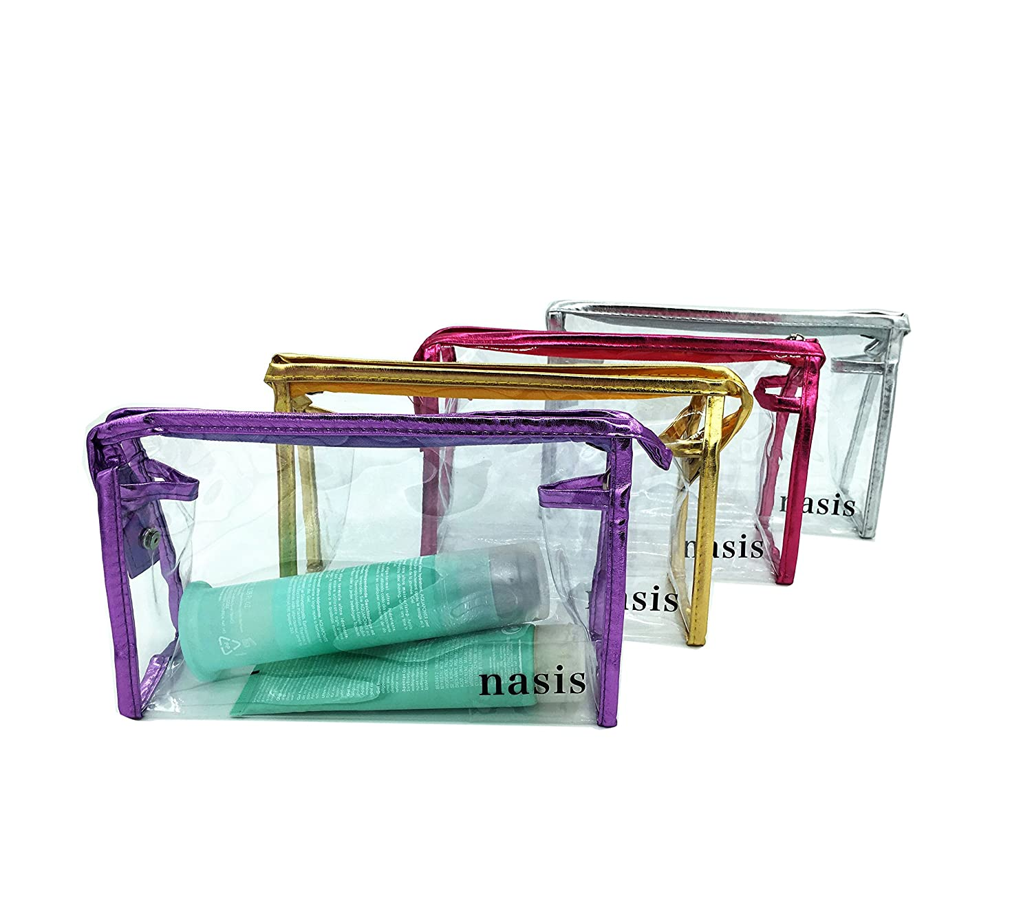 Nasis Multi functional Portable Waterproof Clear Cosmetic Makeup Bag Case Travel Organizer Toiletry Wash Bag AH8007