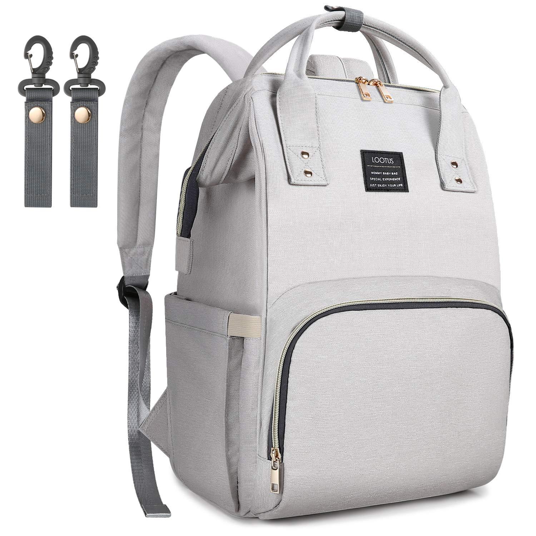 LOOTUS Diaper Bag Backpack, Larger Capacity Health-Protecting Multi-Functional Waterproof Baby Bag Organizer with 14 Pockets