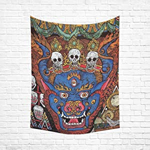 Unique Debora Custom Wall Tapestry Cotton Linen Tapestry Wall Art Hippie Mandala Bohemian Psychedelic Floral 60x51 Inch WR-11
