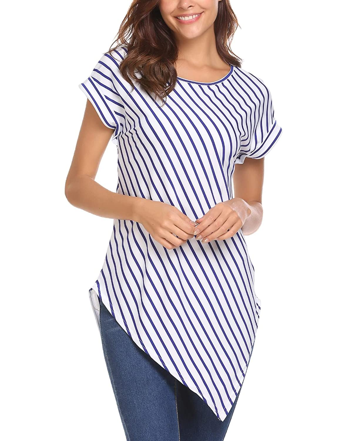 6f159fba093 Sexy off shoulder top for women. Irregular hem design make the shirt  special. Suitable for casual wear. Perfect match skirt, jeans or shorts