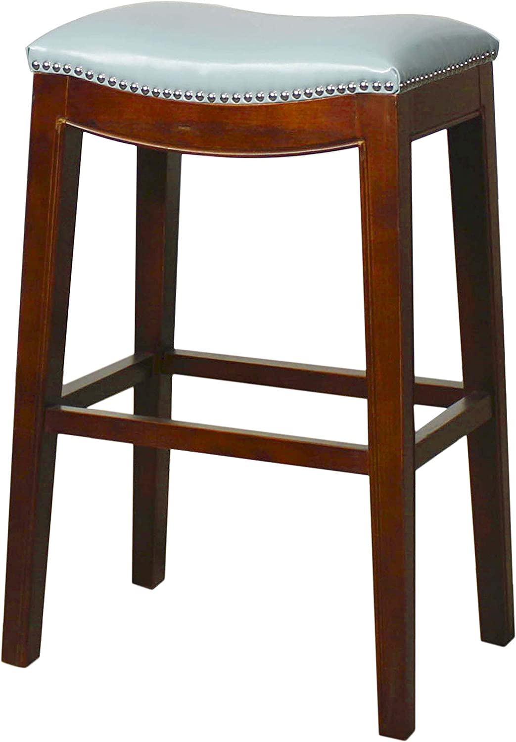 New Pacific Direct Elmo Bonded Leather Bar Stool, Blue